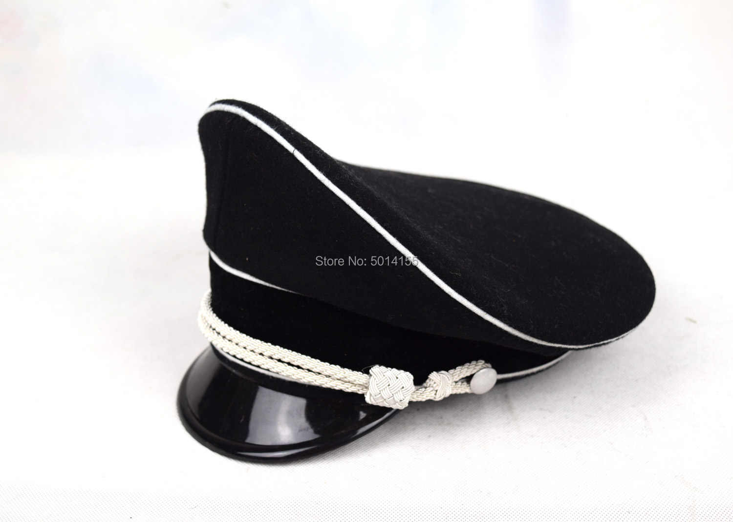 Repro WWII WW2 German Officer Hat Silver Color Metal Chin Strap Cap Accessories