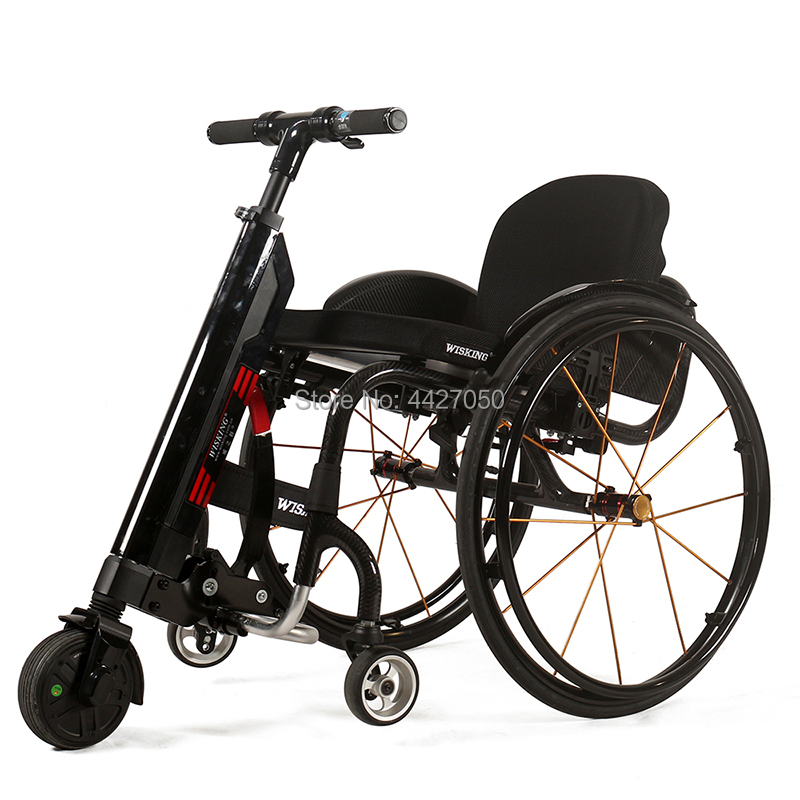 Free shipping new fashion wheelchair trailer Q5 electric Wheelchair bike handcycle trike for old people and