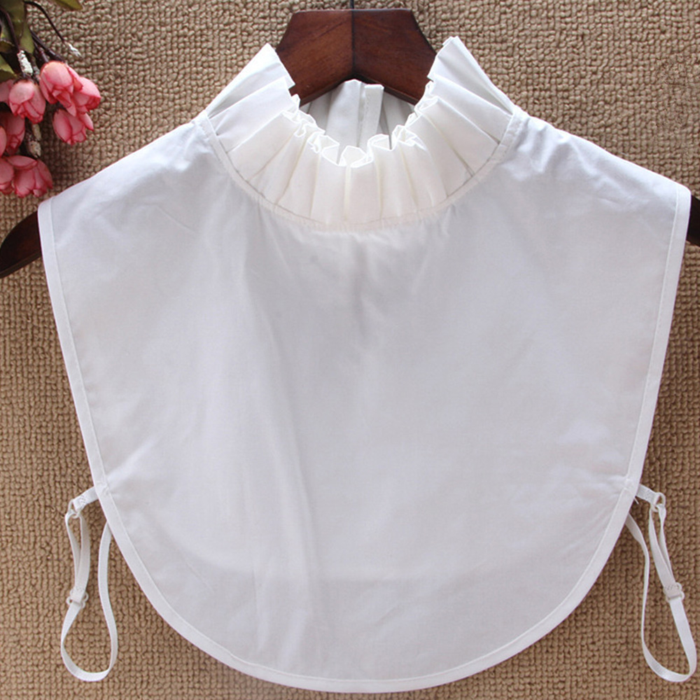 Shirt Fake Collar White/Black/Pink Tie Vintage Detachable Collars False Collar Lapel Blouse Top Women Clothes Accessories