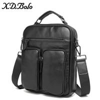X. D. BOLO сумка Мужская натуральная кожа сумка через плечо для мужчин деловой портфель мужской сумки через плечо для мужчин ts