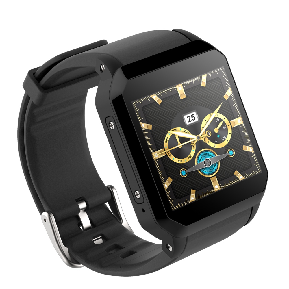 KW06 Smart Watch men Android 5.1 Wrist Phone MTK6580 512MB+8GB Heart Rate Monitor Bluetooth Smartwatch for Android iOS Black