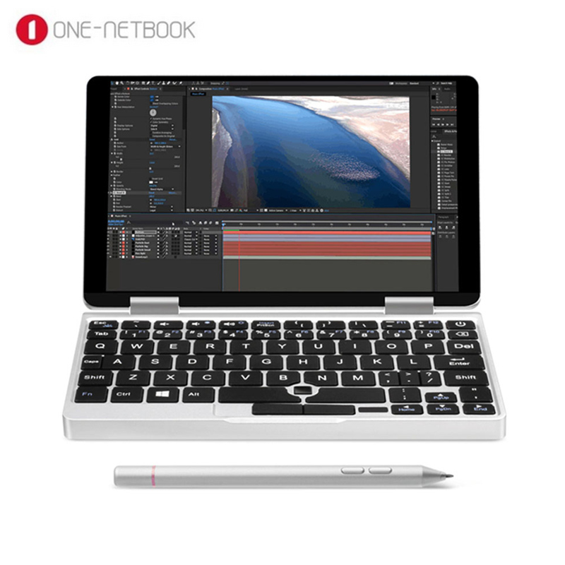 One Netbook One Mix 2S Notebook 7 inch Windows 10 Intel Core M3-8100Y 3.4GHz 8GB DDR3 256GB PCIE SSD Dual WiFi Type-C Micro HDMI