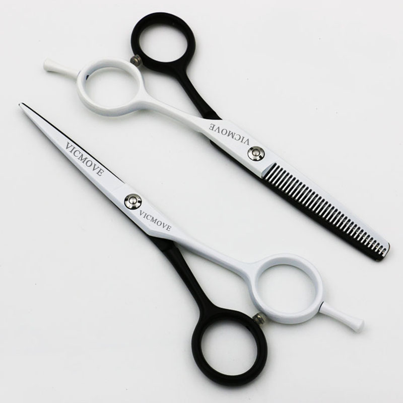 5.5 inch Professional Hair Scissors Set Cutting+Thinning Barber Hairdressing Shears High Quality Black and White Styles