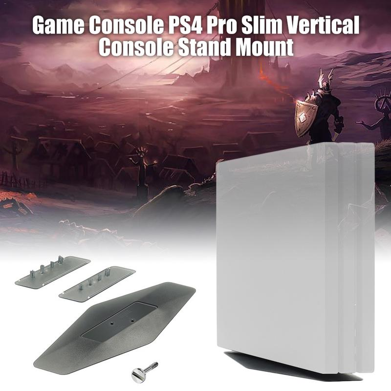 Game Console for PS4 Pro Slim Vertical Console Stand Mount Holder For PlayStation 4 PS4 Slim / Pro with screw clamp