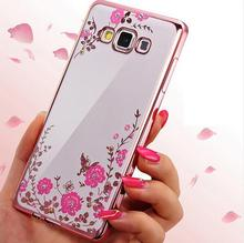 For Samsung S9 S10 Lite Case Note 8 3 4 5 S6 S7 Edge S8 Secret Garden Plating Frame Diamond Glitter Back Cover