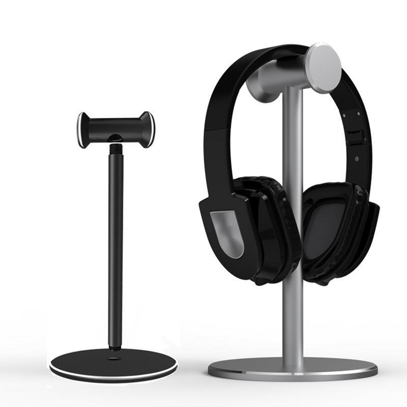 Soporte Universal para Auriculares con Soporte de aluminio, Soporte para Auriculares, Soporte para pantalla de escritorio, Soporte para Auriculares, 2 colores