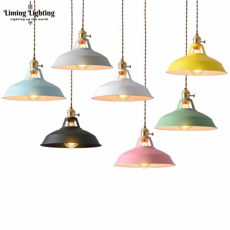 الملونة الحديثة قلادة led تركيب المصابيح المطبخ الطعام غرفة المعيشة الشمال مصباح مصابيح تعليق للزينة Hanglamp بريقا Pendente
