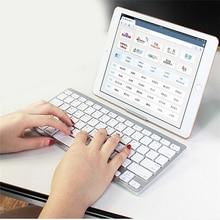 Портативный Bluetooth беспроводная клавиатура Chiclet ключи белый для iPad iPhone Macbook Android планшетный ПК с Windows IOS мини-клавиатура