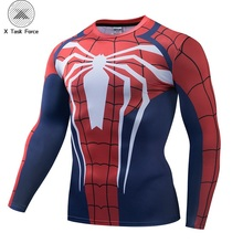 2019 New Compression Long Sleeve Shirt Spider-Man Cosplay PS4 New Look Unisex 3D T-shirt men Fitness Tights Base Layer Fitness