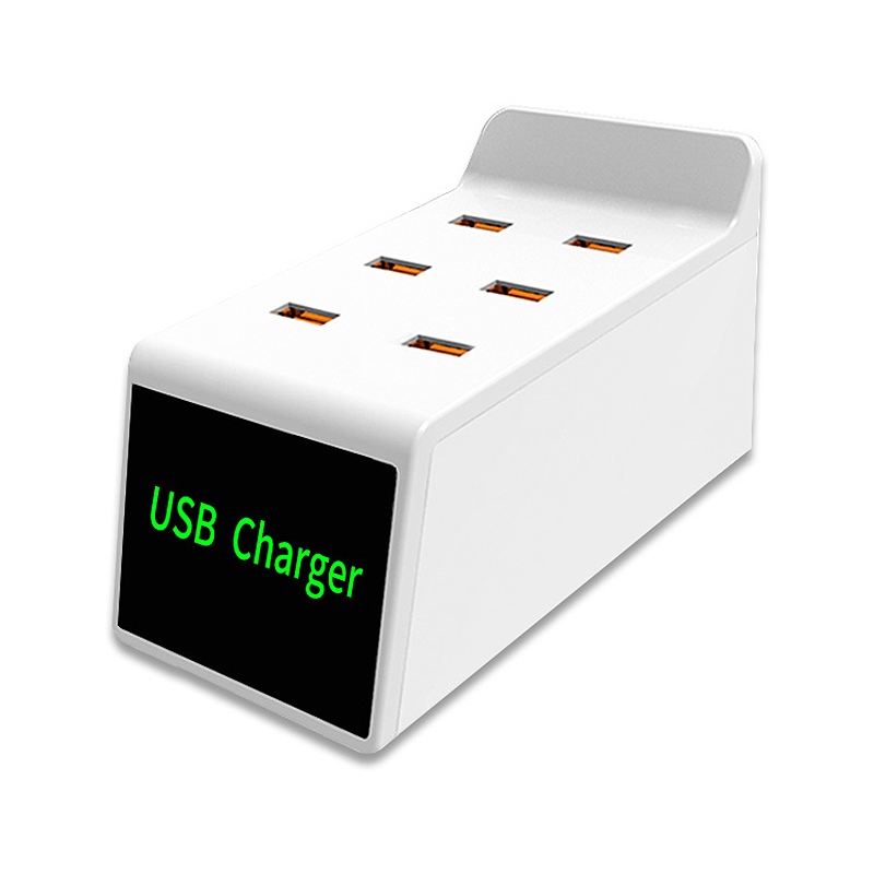 1 Pc 6 Usb-poorten Smart Lcd Display Desktop Charger Voor Camera Smart Horloge Tablet Us Plug Meer Kortingen Verrassingen