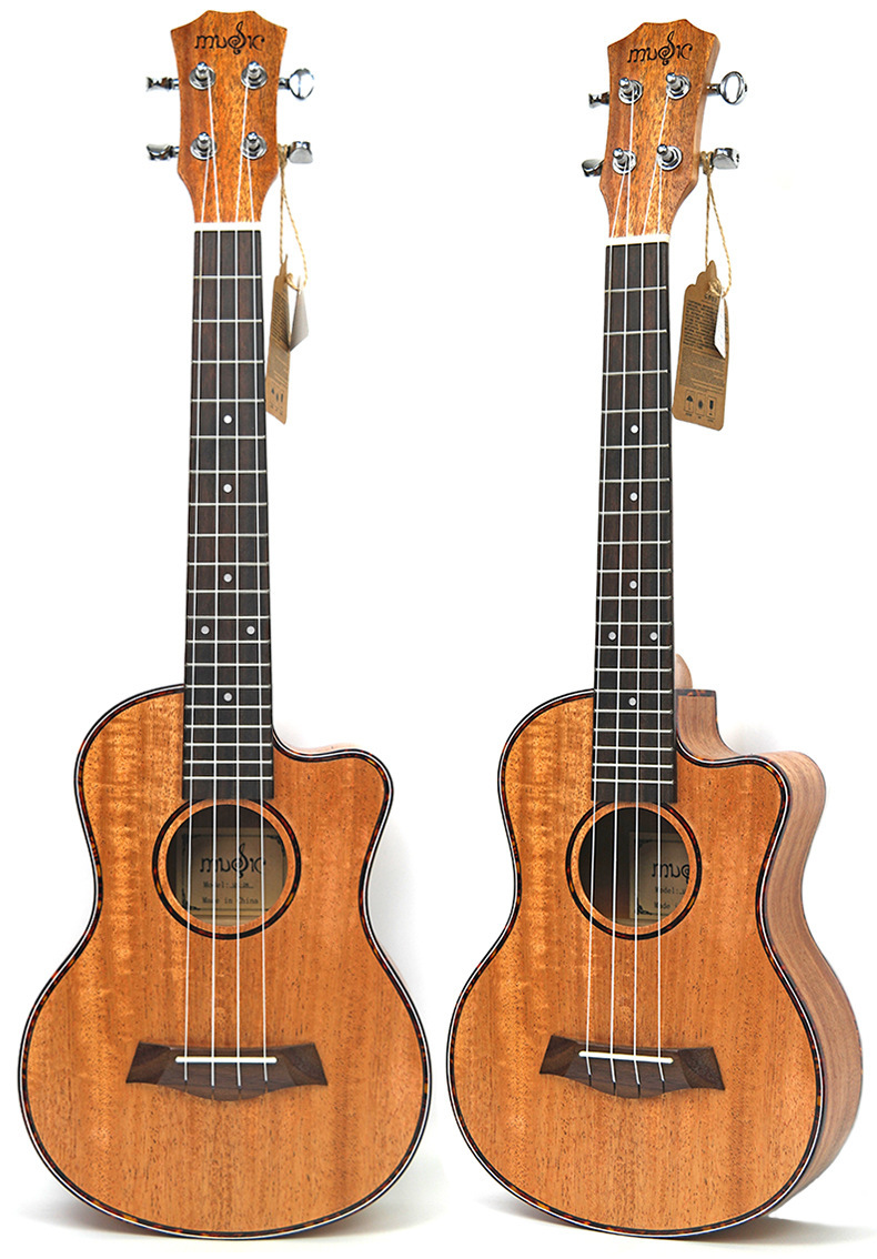 Supplies 23 Inch Full Peach Blossom Heart Missing Angle Juke Ukulele Four Stringed Instrument Small GuitarSupplies 23 Inch Full Peach Blossom Heart Missing Angle Juke Ukulele Four Stringed Instrument Small Guitar