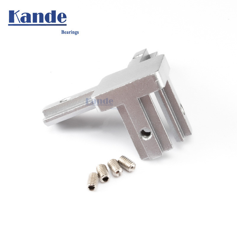 KANDE 2020 Type 3-dimensional Bracket  2020 Concealed 3-way Corner Connector Eu Standard 20/30/40 Series Aluminum Profile Parts