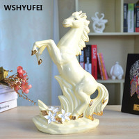 ceramic horse home wedd decor crafts room decoration ornament porcelain figurines animal figurines decorations Office decoration