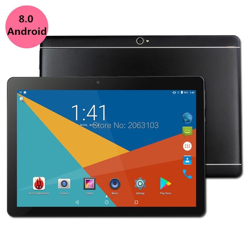 2019 10 pouce Octa Core 3g/4g Tablet pc 4 gb RAM 64 gb ROM 1920*1200 Double Caméras Android 8.0 Comprimés 10.1 pouce Livraison Gratuite