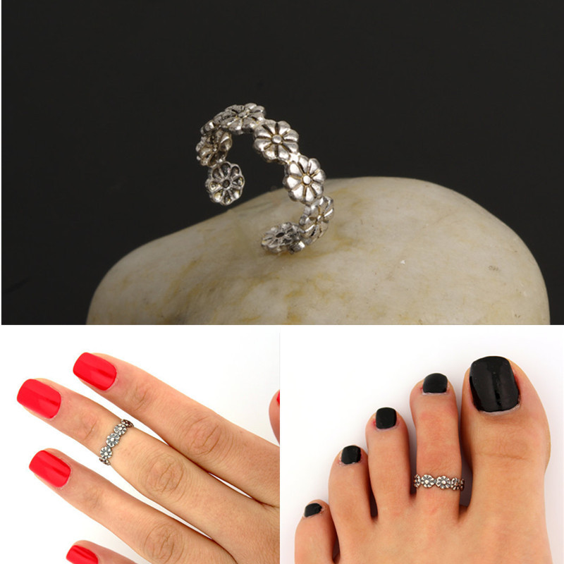 Jewelry Sets & More Earnest Kingdeng Foot Ring Silver Fashion Jewelry Women Accessories Flower Small Daisy Good Luck Vintage Zinc Alloy Metal Bohemian