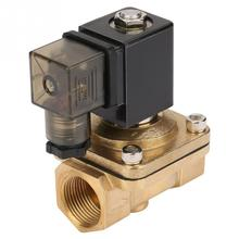 1Pcs PU220-06 G3/4 Brass Direct Action Electromagnetic Water Solenoid Valve For Water Air