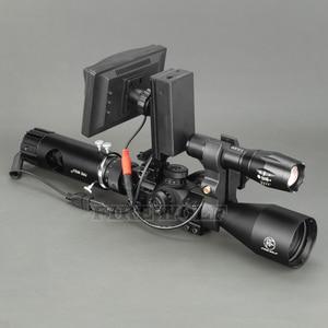 Image 4 - 100 M DIY Digital Night Vision Rilfe ขอบเขตไฟฉาย LED สำหรับ Night การล่าสัตว์เกียร์ Night Vision Sight Hot ขาย