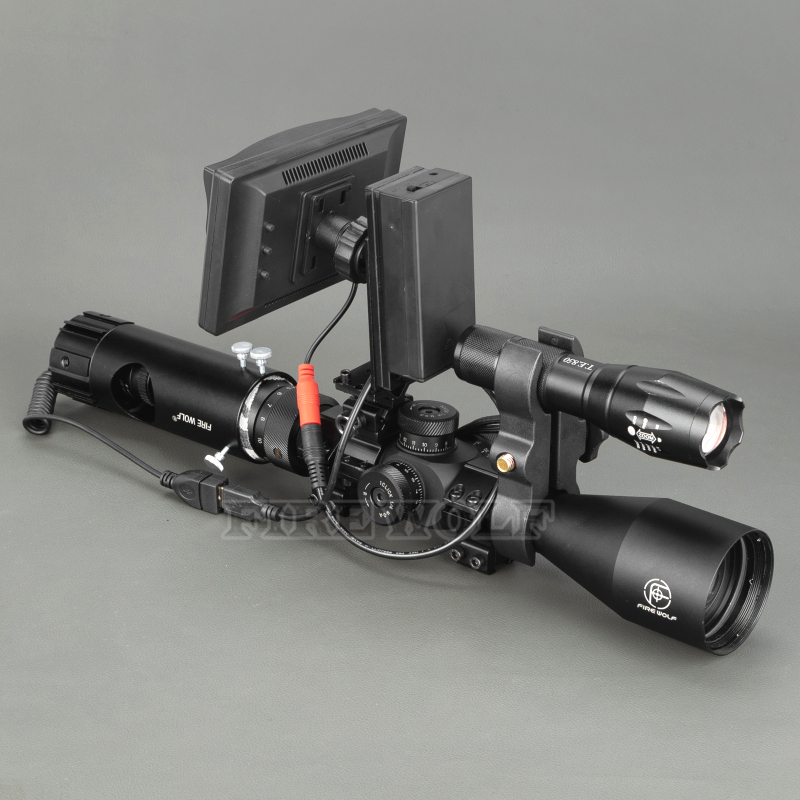 Image 4 - 100M Range DIY Digital Night Vision Rilfe Scope with LED Torch for Night Hunting Gear Night Vision Sight Hot Sale-in Night Visions from Sports & Entertainment