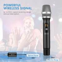 25 Channels Wireless Microphone Auto Sync Wireless Dynamic Cardioid Polar Pattern Microphone System with Receiver