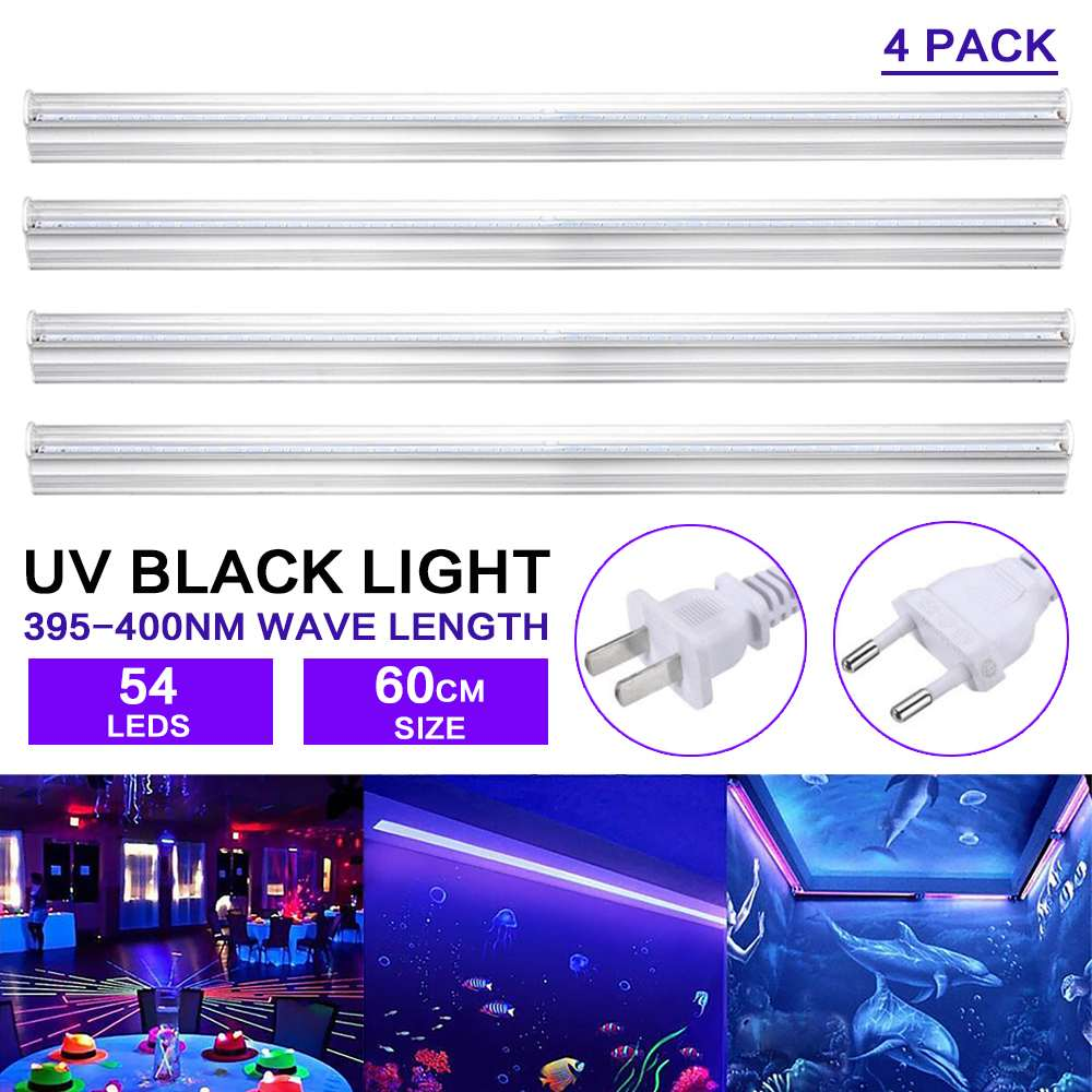 Ultraviolet Lamps 60cm 9w 54 Led Uv Black Light Fixtures Portable Blacklight Lamp Bar Lighting Party Club Disco Decoration Stage Effect Light Refreshing And Enriching The Saliva Lights & Lighting