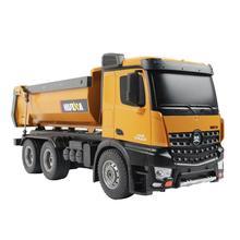 Huina 1573 RTR 2,4 GHz 10 канальный 1:14 пульт дистанционного управления RC грузовик самосвал саморазряжающийся металлический авто демонстрационный светодиодный светильник RC игрушки