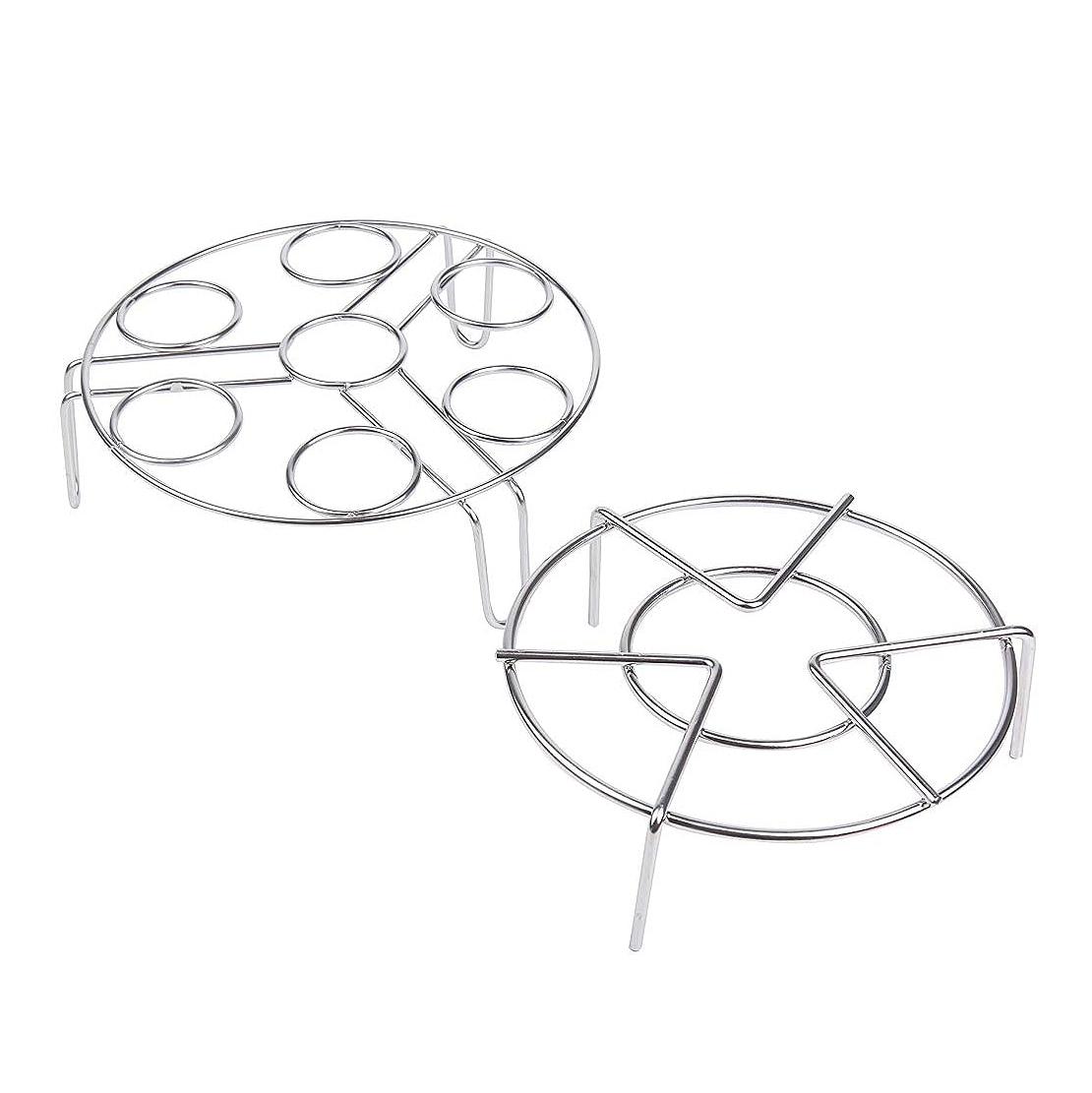 Stainless Steel Steamer Rack,Steamed Food Rack +Steamed Egg Racks (Egg Rack +Food Rack)
