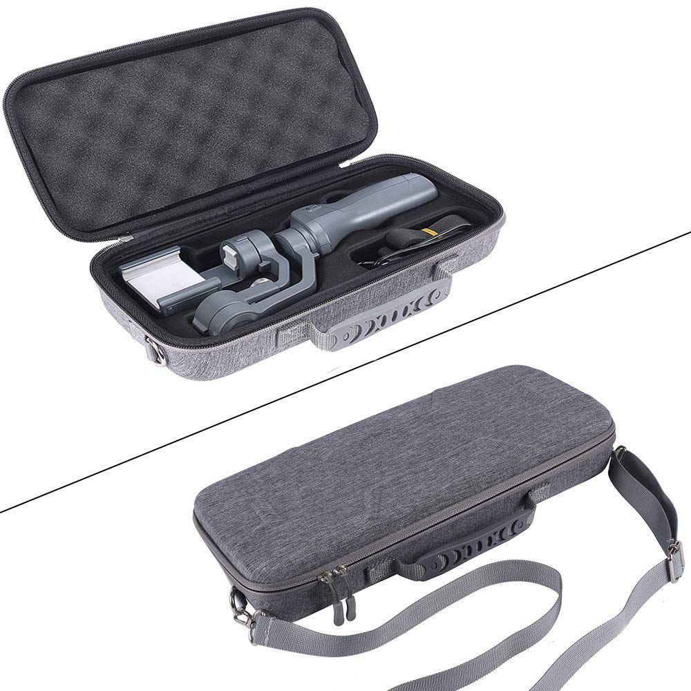 SQPP Hard EVA Travel Gray Case For DJI OSMO Mobile 2,Fits USB Car Charge Handheld,Power Bank & Phone (Gray)