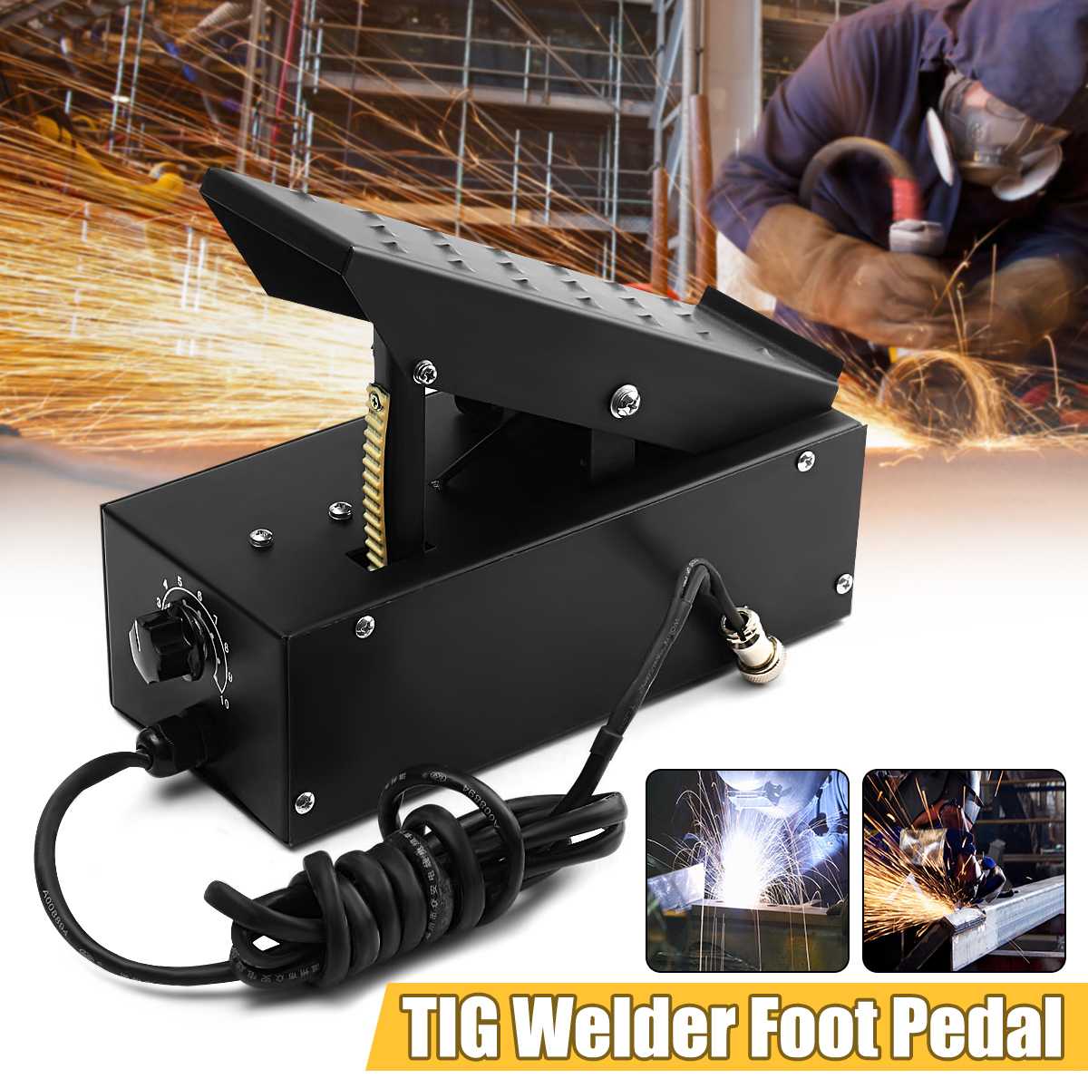 7 Core TIG Welde r Foot Pedal Metal for TIG Welding Machines Power Control Welding Equipment 380V