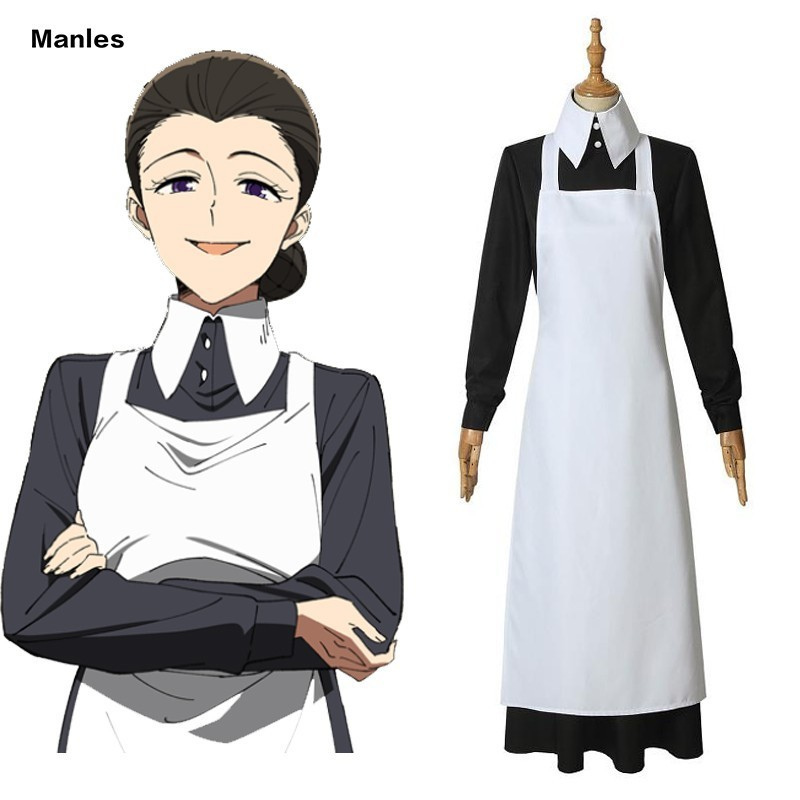 Anime The Promised Neverland Costume Isabella Mama Cosplay Carnival Adult Superhero Halloween Girl Dress Party Custom Women