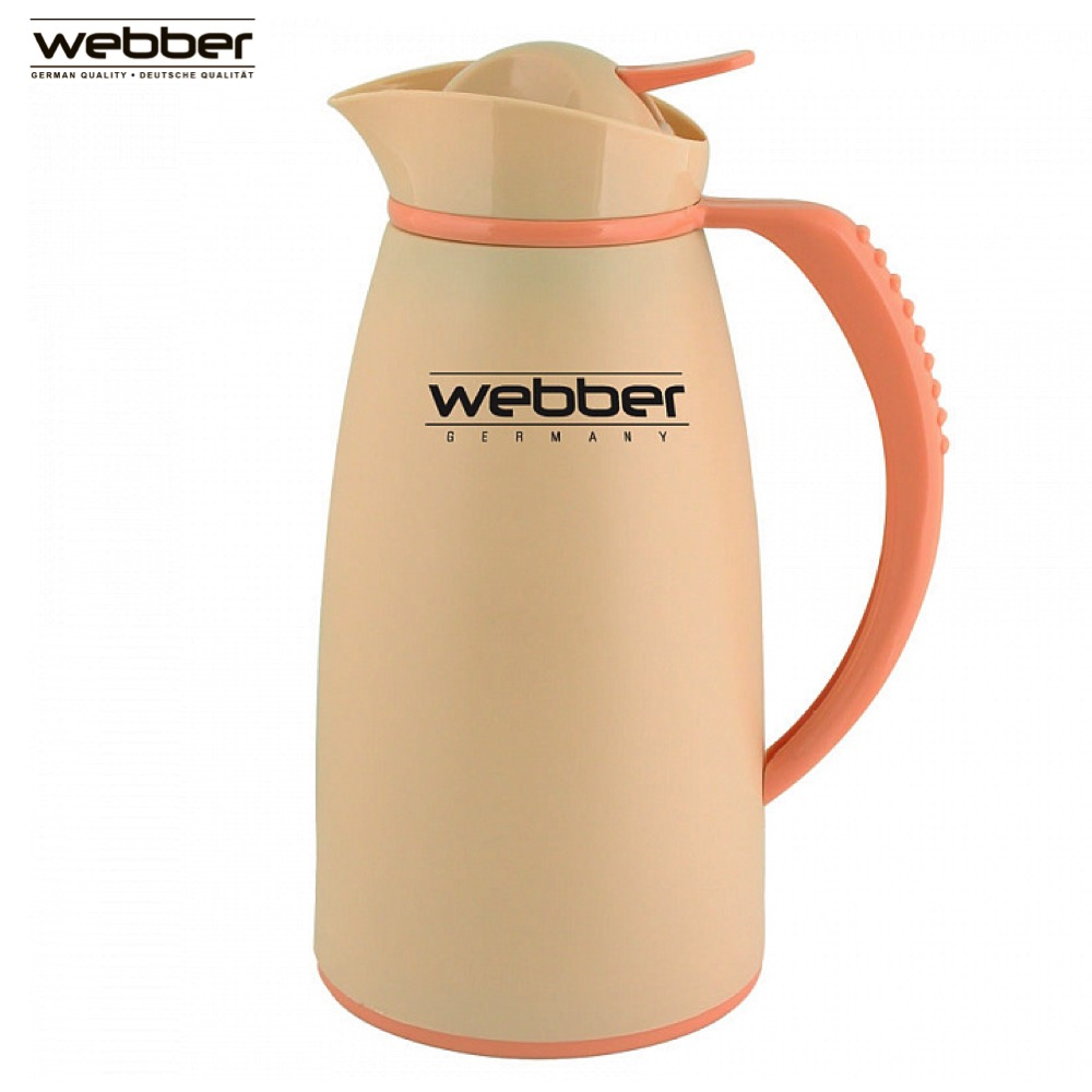 Vacuum Flasks & Thermoses Webber SSVK-1000P Beige thermomug thermos for tea thermo keep сup stainless steel water mug food flask 9 stainless steel food utility tong