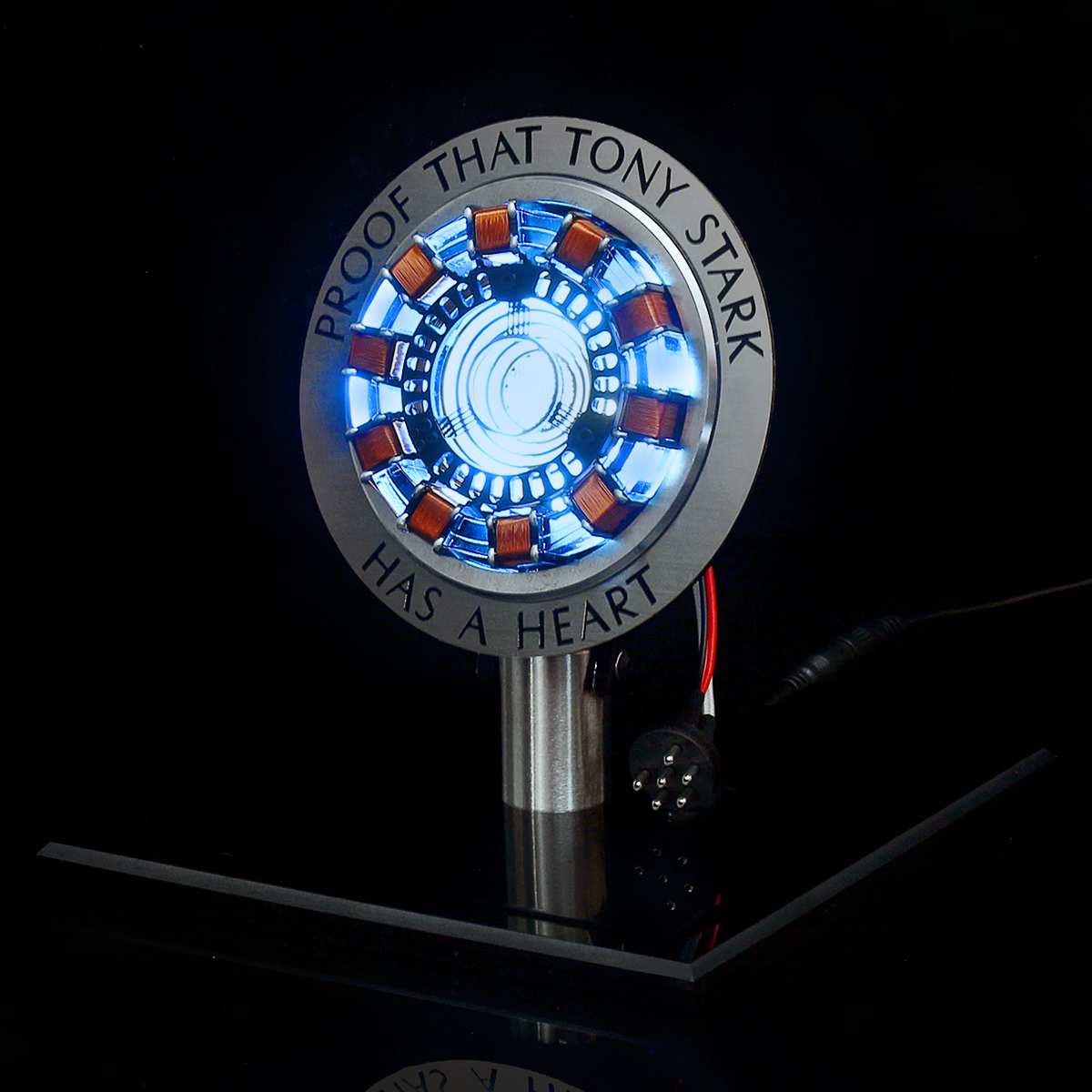 1:1 échelle Arc réacteur Action Figure lumière à distance Arc MK1 bricolage pièces modèle Assemb LED jouets lampe de poitrine en alliage d'aluminium LED