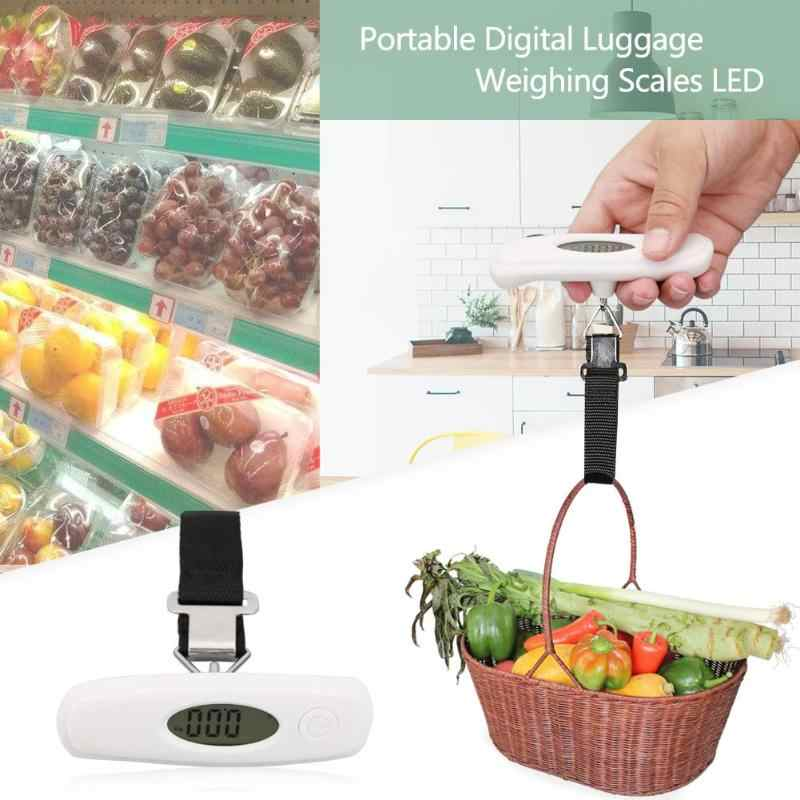 Portable Handheld Elektronik Bagasi Skala Digital LCD Tas Travel Koper Timbangan Gantung untuk Dapur Keseimbangan Berat 50Kg/10G