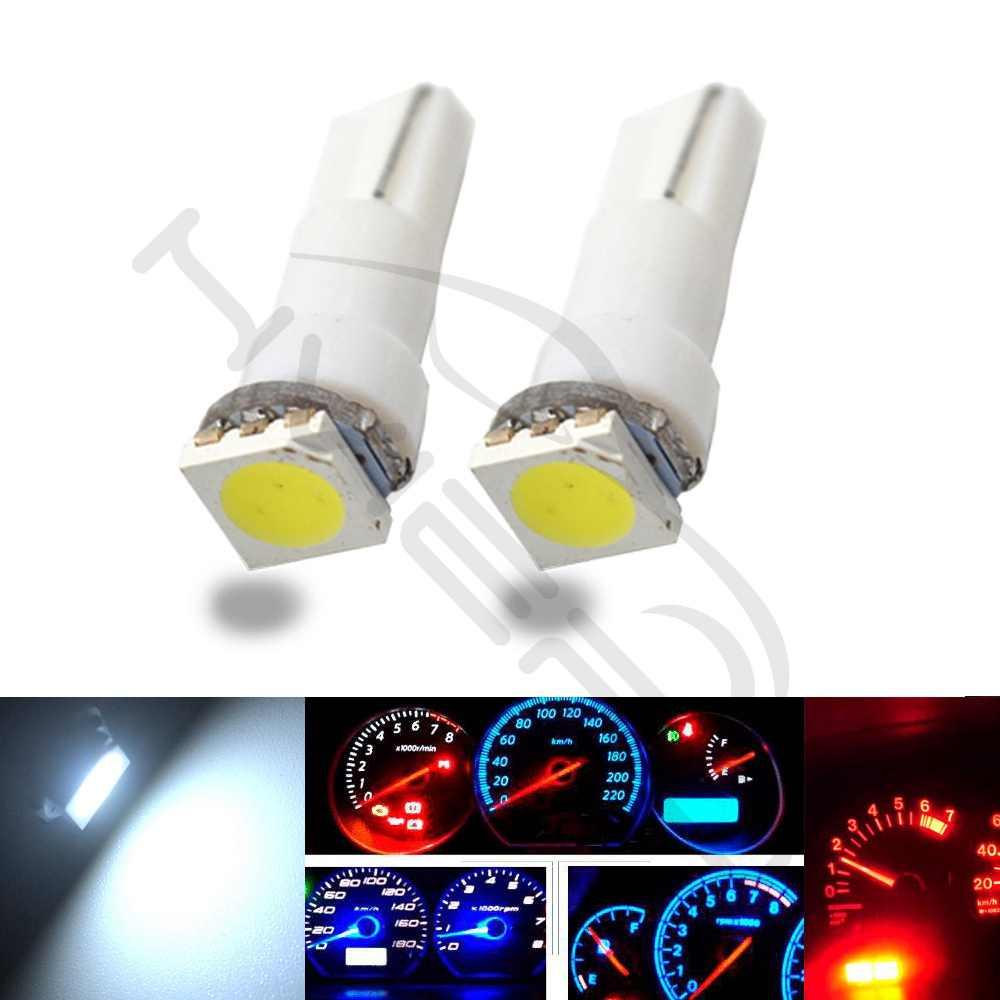 1X T5 5050 1SMD Клин Светодиодная панель белый красный синий зеленый желтый розовый машина автомобиль свет Интерьер интерьер лампы боковые лампы DC 12 В