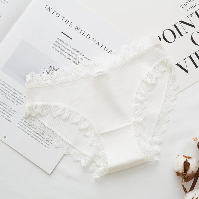 Women's Cotton Panties Female Lace Edge Breathable