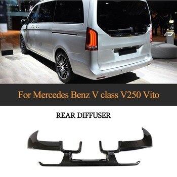 リアメルセデスベンツ 220v クラス V250 ヴィト炭素繊維バンパープロテクターカバースプリッタ車のバンパースプリッタ
