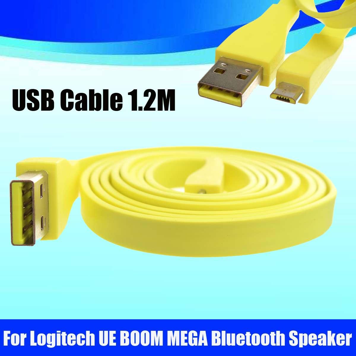 1,2 M Micro Usb Pc Cargador Flexible, Cable De Datos Usb Cable De Alambre Para Logitech Ue Boom Mega Altavoz Bluetooth Cargador De Alta Calidad