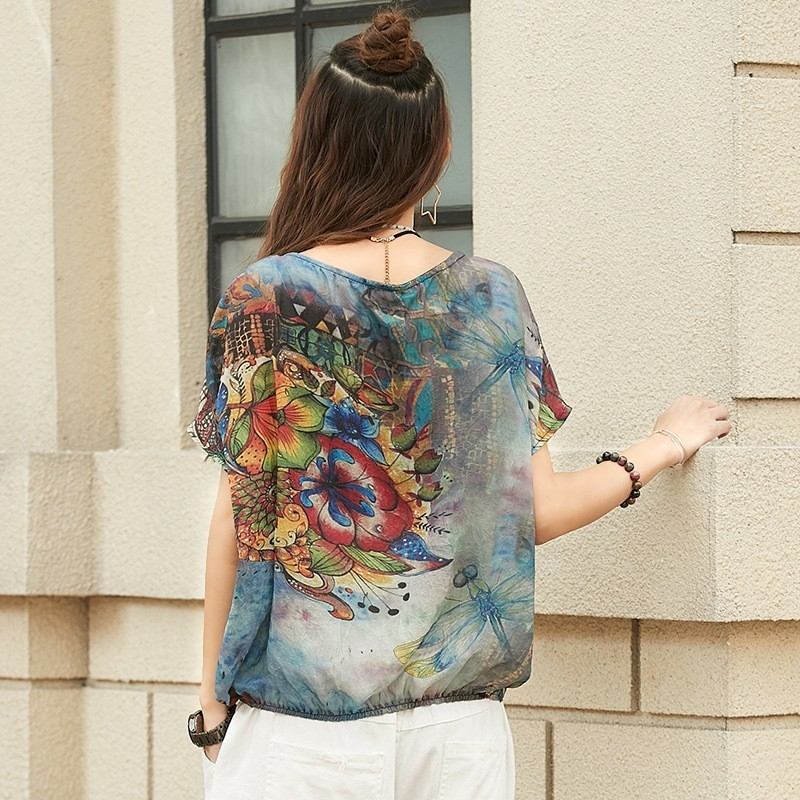 Doneearly Tops Shirts Floral