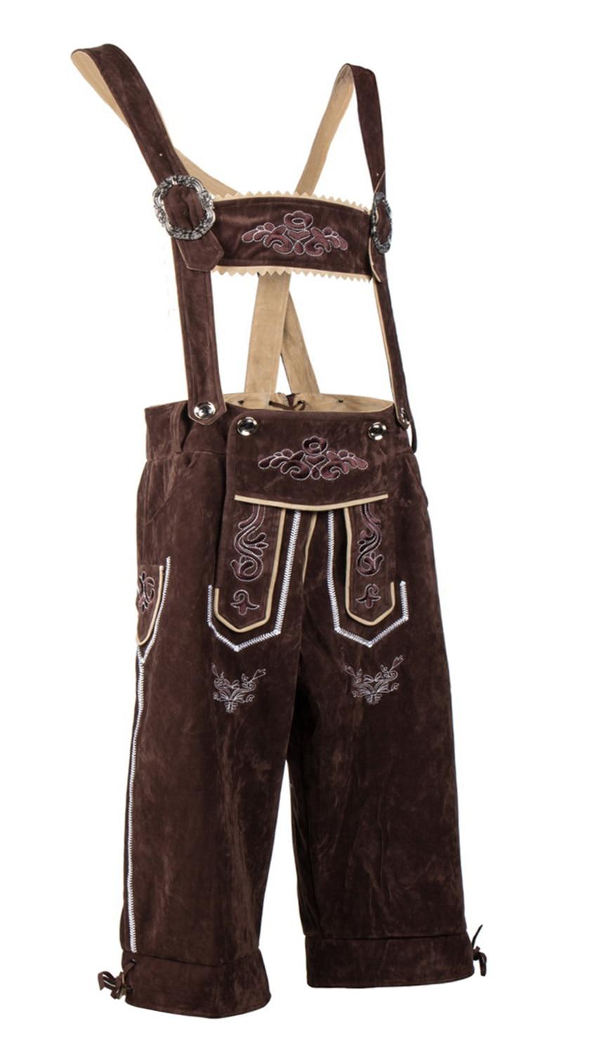 New Men's German Oktoberfest Bavarian Lederhosen Suspenders Shorts