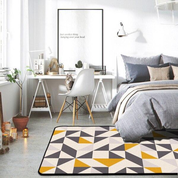 Tapis géométriques nordiques salon chambre étude chevet tapis moderne décor vitrine Rectangle tapis ménage Yoga couverture tapis - 3