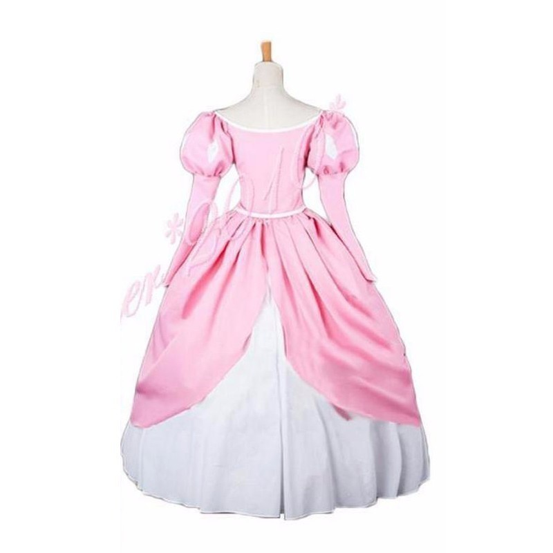 For Anime The Little Mermaid Princess Ariel Dresses Pink Fluffy Party Fancy Dress Cosplay Costume