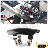 Motorcycle Fibre Carbon Discharge Protection Silencer Heat Pipe Protection Screen Coverage For Yamaha YZF R1 / R3 / R6