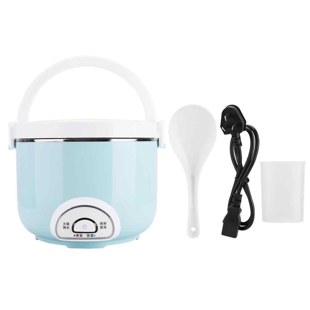 2L Rice Cooker Isolasi Pemanas Listrik Kotak Makan Siang Portabel Steamer Multifungsi Otomatis Wadah Makanan Alat Rumah Tangga