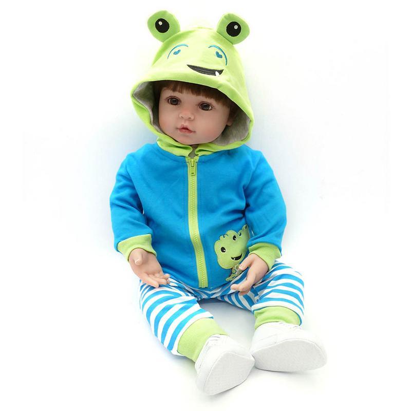 19''Handmade Силиконовые Винил очаровательны реалистичные малыша Bonecas Девочка Малыш bebe кукла возрожденная менина de силиконовые