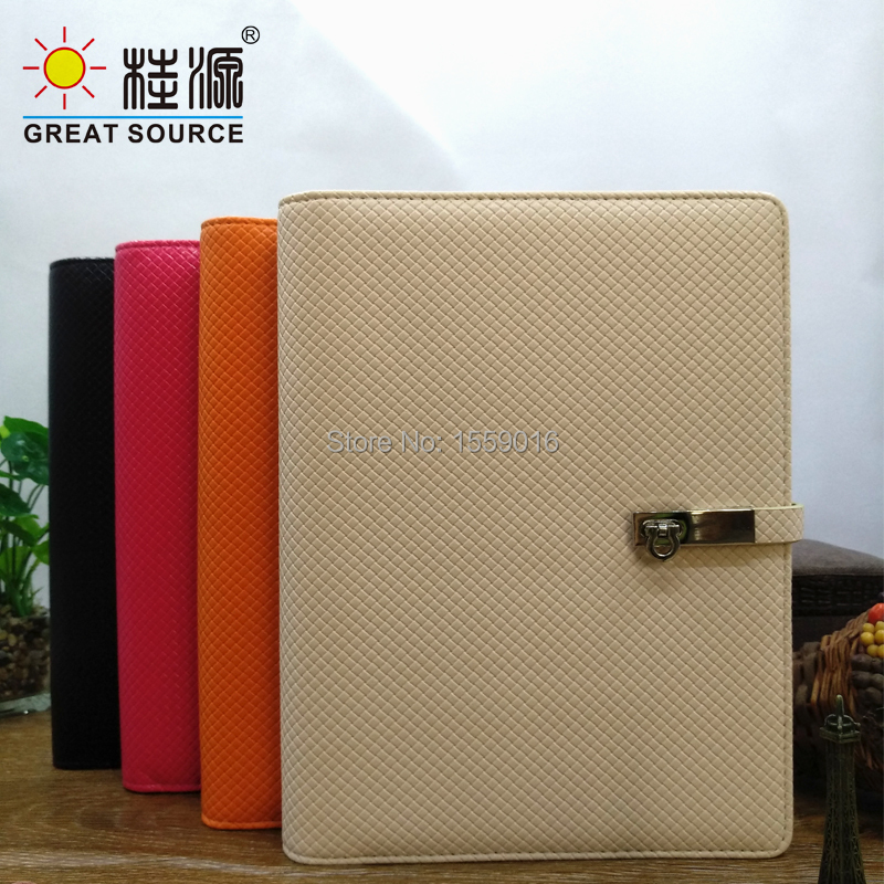 Leather Cover Notebook 9 Rings Binder 2020 Calendar Planner Agenda B5 Notepad