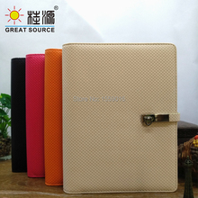 купить Leather Cover Notebook 9 Rings Binder 2020 Calendar Planner Agenda B5 Notepad дешево