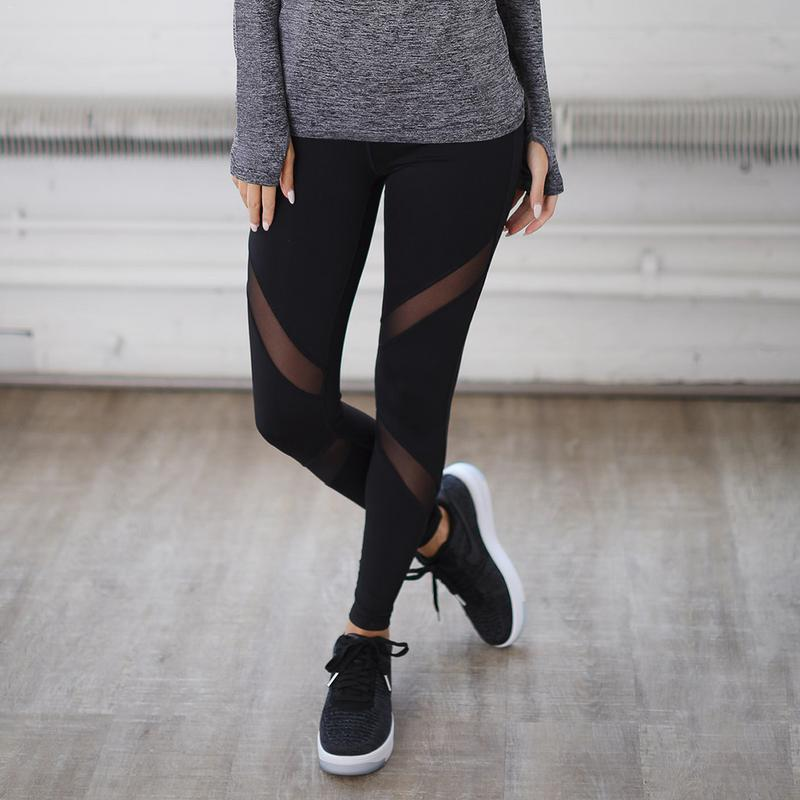 Fitness Yoga Sports Leggings For Women Tight Mesh Pants Running Tights 2019 New Arrival