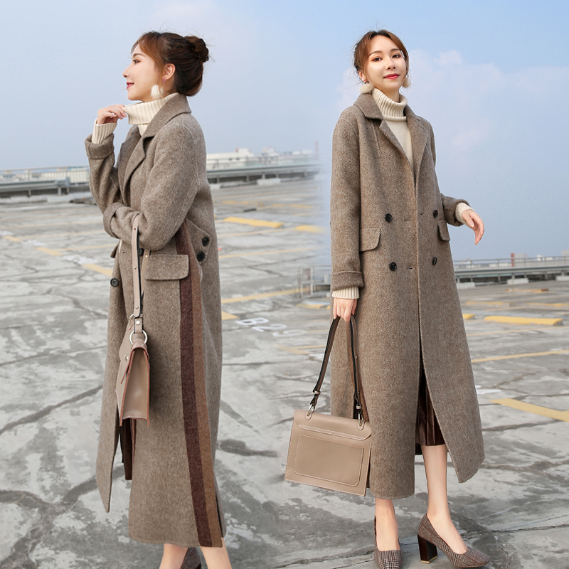Femmes Cachemire D'hiver Vent Solide Khaki De X Vêtements Hepburne Mode Femme Laine Populaire longue Manteau 2019 Couleur Lâche Pardessus 7xPq8w0g