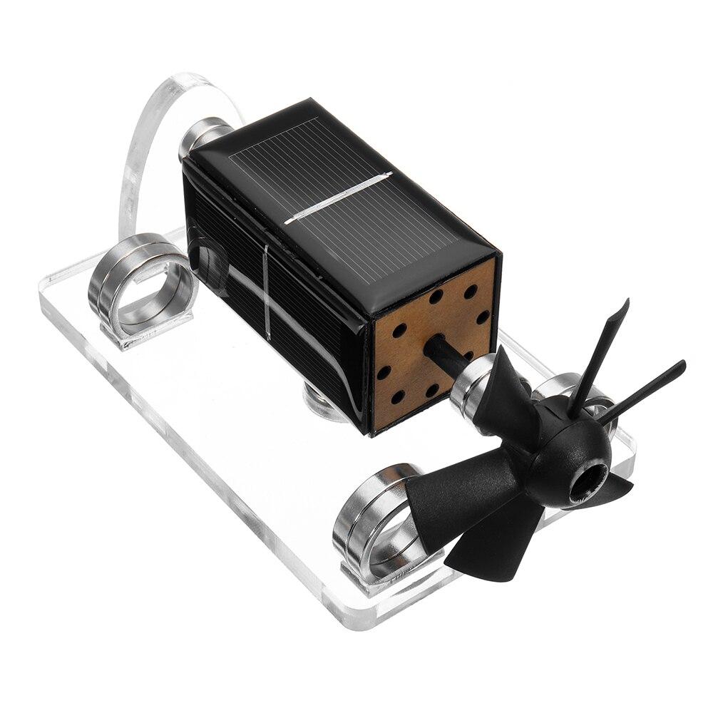 Horizontal Four-Side Magnetic Suspension Solar Motor Electrical Educational Model Toys Science Mendocino Stirling Engine Motor