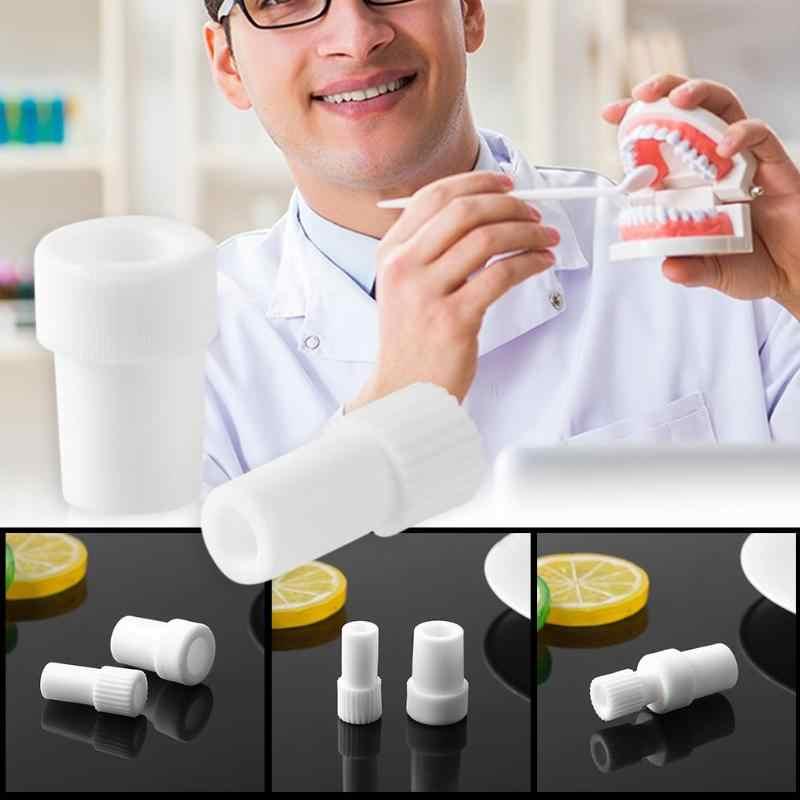 2 pcs Usa E Getta Dentale di Aspirazione Tubo Adattatore Saliva Girevole di Espulsione Convertitore per il Dentista Chirurgico di Aspirazione Punte
