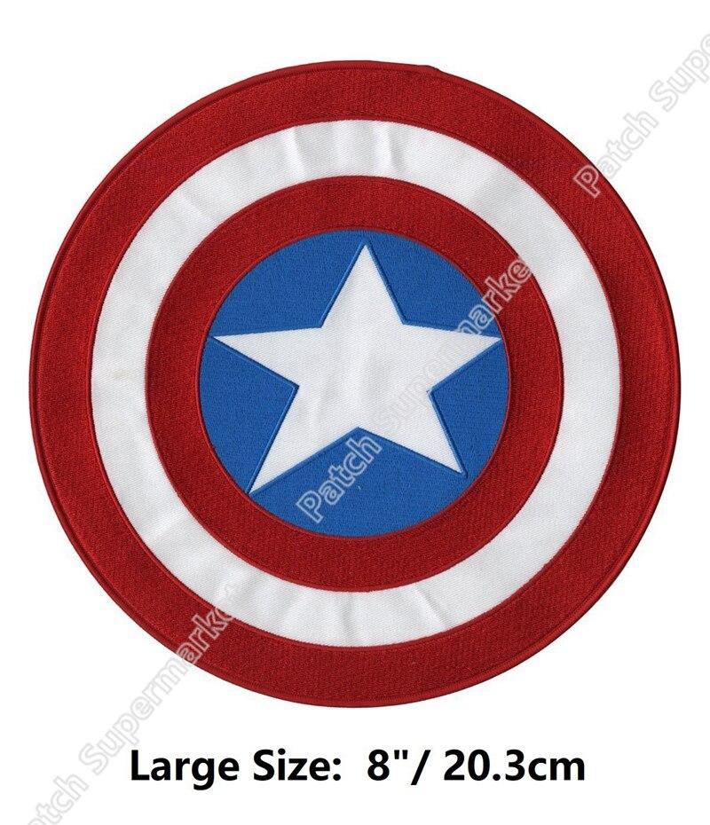 """8 """"grote XL Captain America Avengers shield Movie Geborduurd Film tv serie Terug Patch Halloween Jas Marvel Comics kostuum-in Lappen van Huis & Tuin op  Groep 1"""